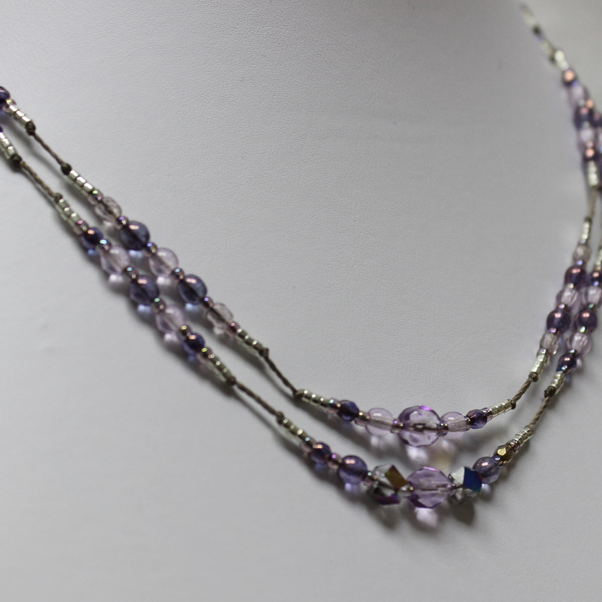 Purple Violets Necklace