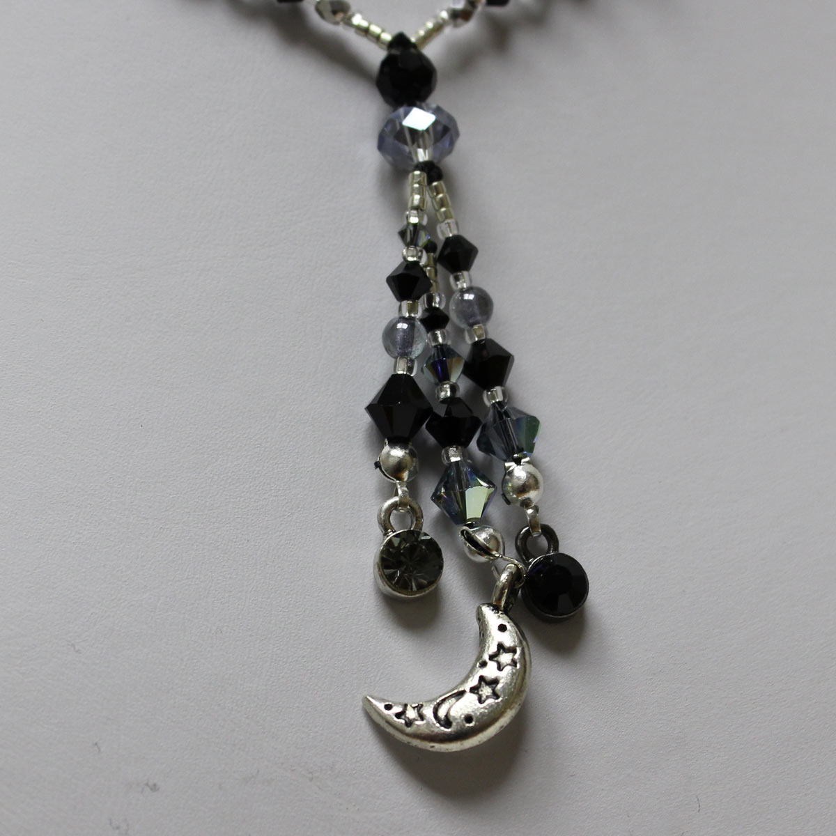 Half Moon Charm Necklace #2218