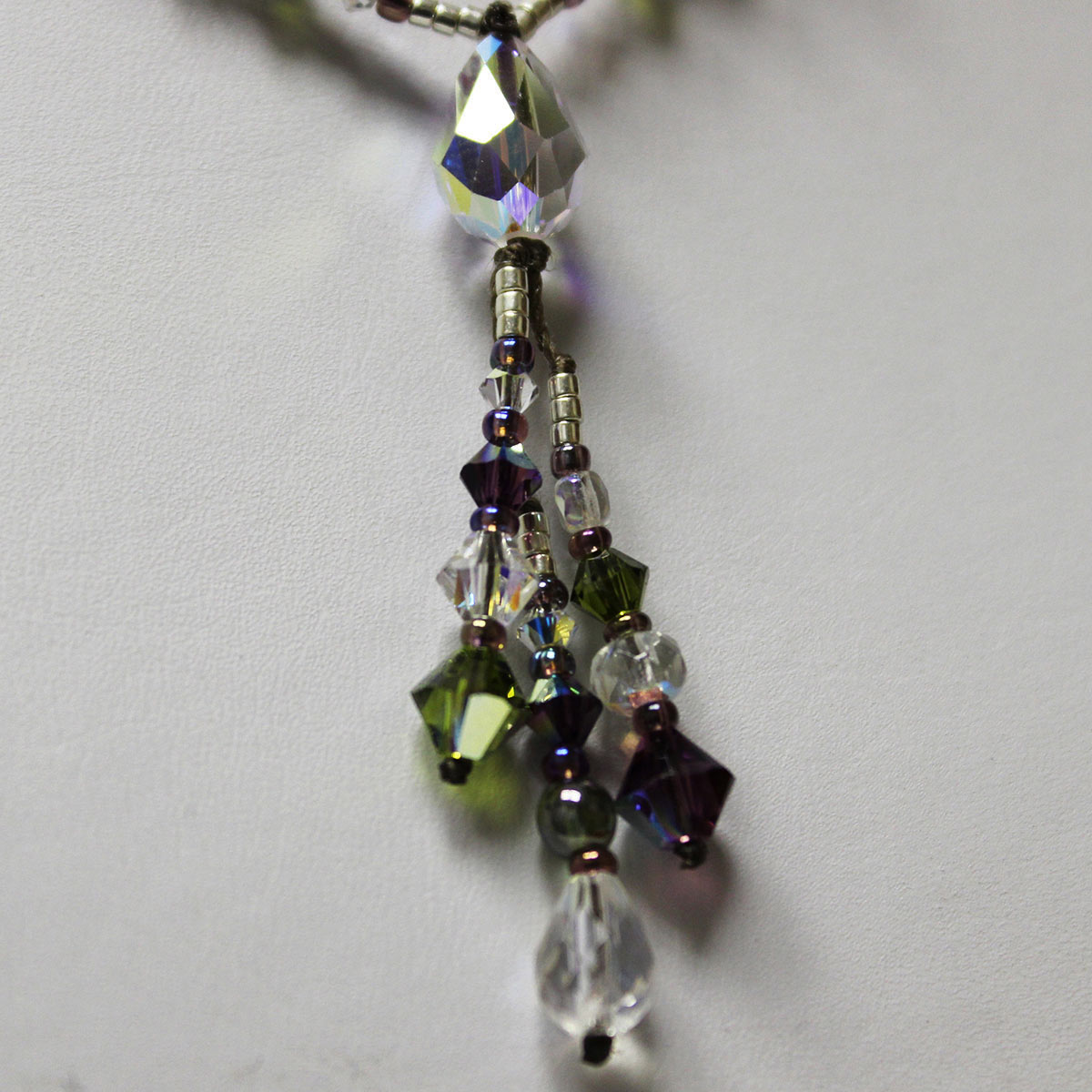 Swarvoski teardrop, unique drop necklace, handmade crystal necklace