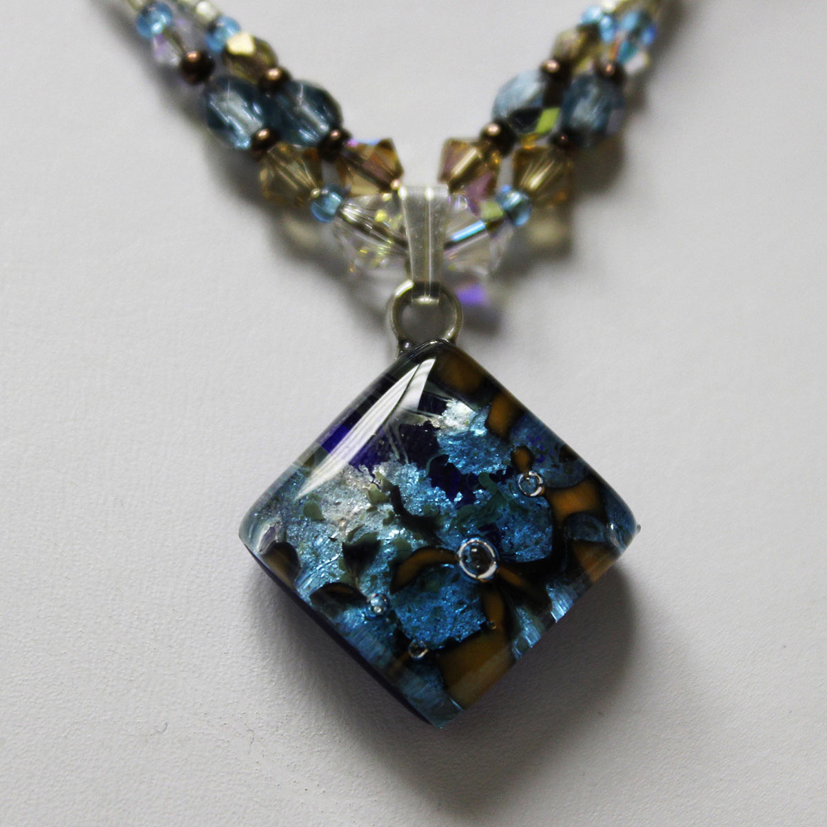 Venetian Murano Charm Necklace #2225