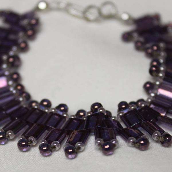 Purple Luster Tila Bracelet