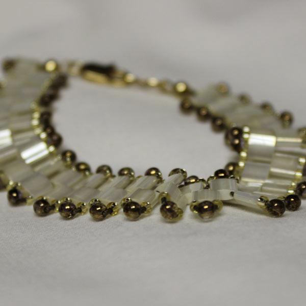 Ivory Pearl Tila Bracelet