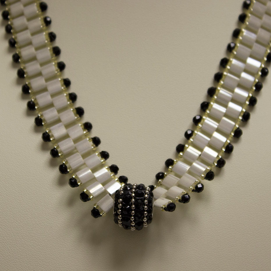 Ivory Pearl Tila Necklace
